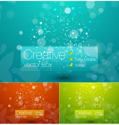 creative template vector image vector image