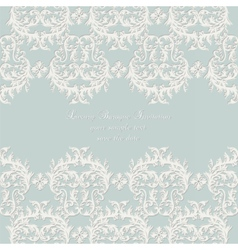 Damask Lace Invitation card with ornaments vector image
