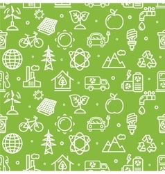 Ecology Background Pattern vector image vector image