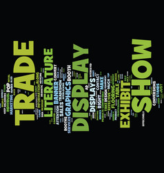 Elements of a tradeshow display text background vector