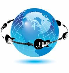 globe guitars vector image vector image
