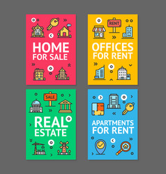 home apartment and office flyer banner posters vector image