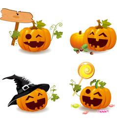 Jack O Lantern icons vector image