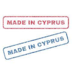 Made in cyprus textile stamps vector