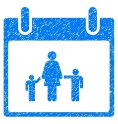 Mother calendar day grainy texture icon vector