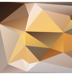 Orange and beige abstract polygonal background vector image vector image