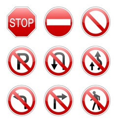 Pack traffic sign vector