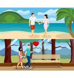 People Love Banner Set vector image vector image