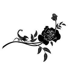 rose and scorpion vector image vector image