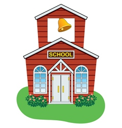 school house vector image vector image