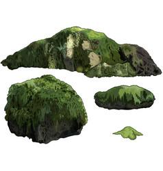 Set of stones vector