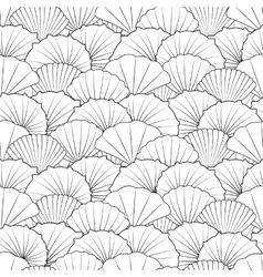 Shells seamless pattern vector