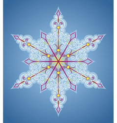 Six-sided pattern like snowflake vector image
