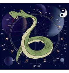 Snake Horoscope animal sign vector image