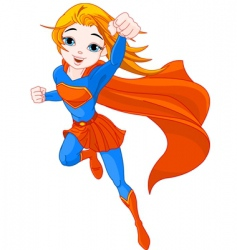 super girl vector image vector image