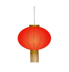 traditional red chinese lantern vector image
