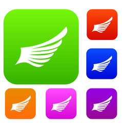 Wing set collection vector