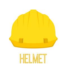 yellow helmet work toolcartoon flat style vector image
