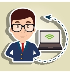 manager hotel employee service vector image