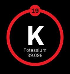 Potassium chemical element vector