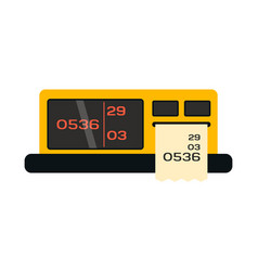 taximeter icon in flat style transportation symbol vector image
