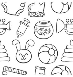 doodle of baby object collection stock vector image