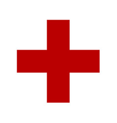 Symbol of medicine cross vector