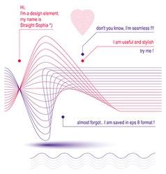 3d wavy decoration clear eps8 romantic loving vector image vector image