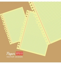Paper notes and sheets vector