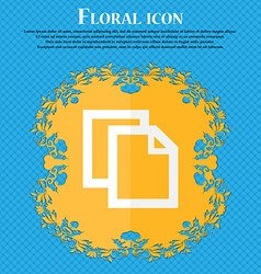 Edit document sign icon content button floral flat vector