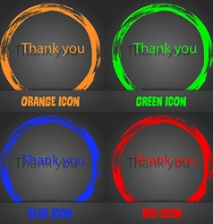 Thank you sign icon gratitude symbol fashionable vector
