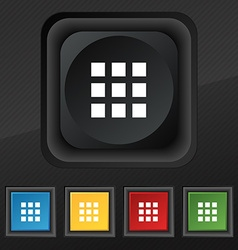 List menu app icon symbol set of five colorful vector