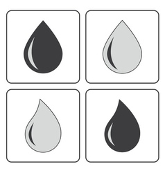 Drop water gray vector
