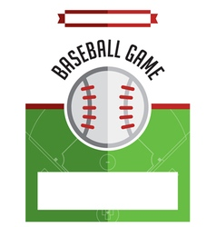 Baseball game flyer vector