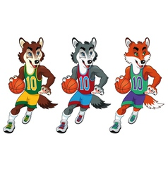 Basketball mascots vector