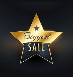Biggest sale star label badge design vector