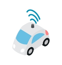 Car wi fi icon isometric 3d style vector image
