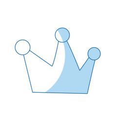 Cartoon crown royalty fairy tale image vector