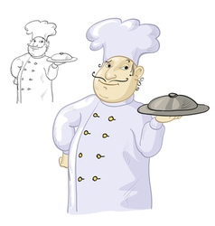 Chef cook vector image