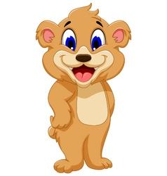 cute bear cartoon for you design vector image