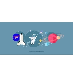 Exploration New Planets Icon Flat Isolated vector image