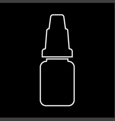 eye drops white color icon vector image vector image