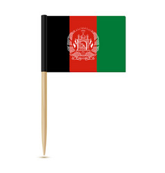 flag of afghanistan flag toothpick 10eps vector image vector image
