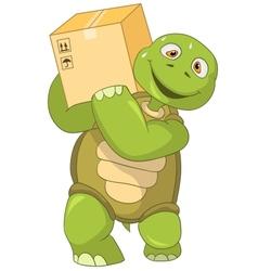 Funny turtle worker vector