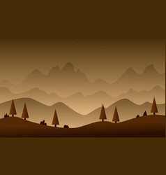 Game background with hill style vector