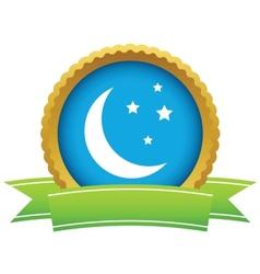 Gold moon logo vector image
