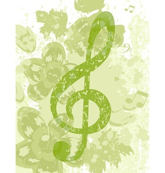 grunge treble clef vector image