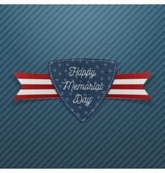 Happy Memorial Day patriotic Emblem and Ribbon vector image