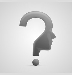 Head question sign vector