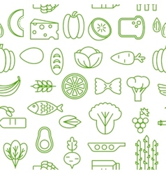 Healty food cartoon seamless pattern vector